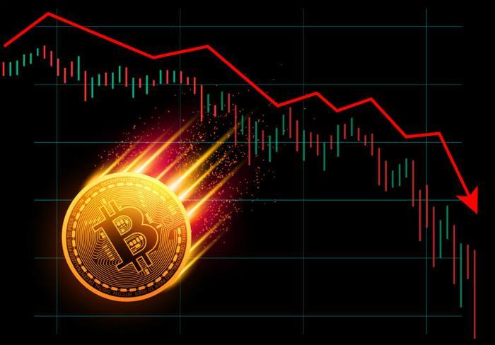 Bitcoin scende del 40%