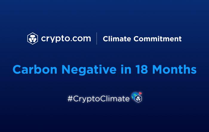 Crypto.com promette di diventare Carbon Negative