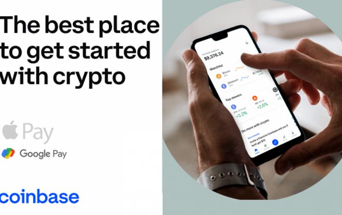 Coinbase integra Apple Pay per gli investimenti in criptovalute